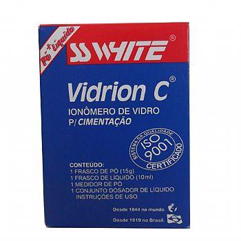 VIDRION-C---IONOMERO-DE-VIDRO-PARA-CIMENTACAO---AUTOPOLIMERIZAVEL---SS-WHITE