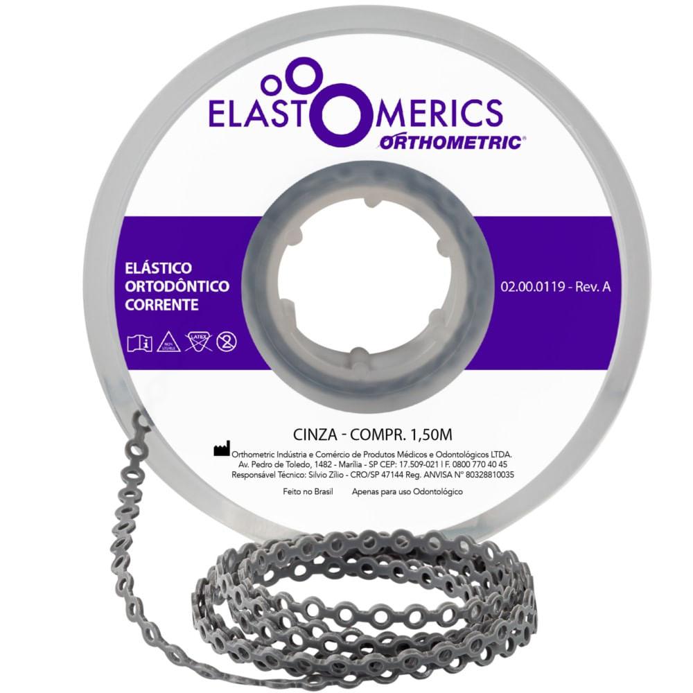 ELASTICO-EM-CORRENTE-MEDIO---CINZA---ORTHOMETRIC