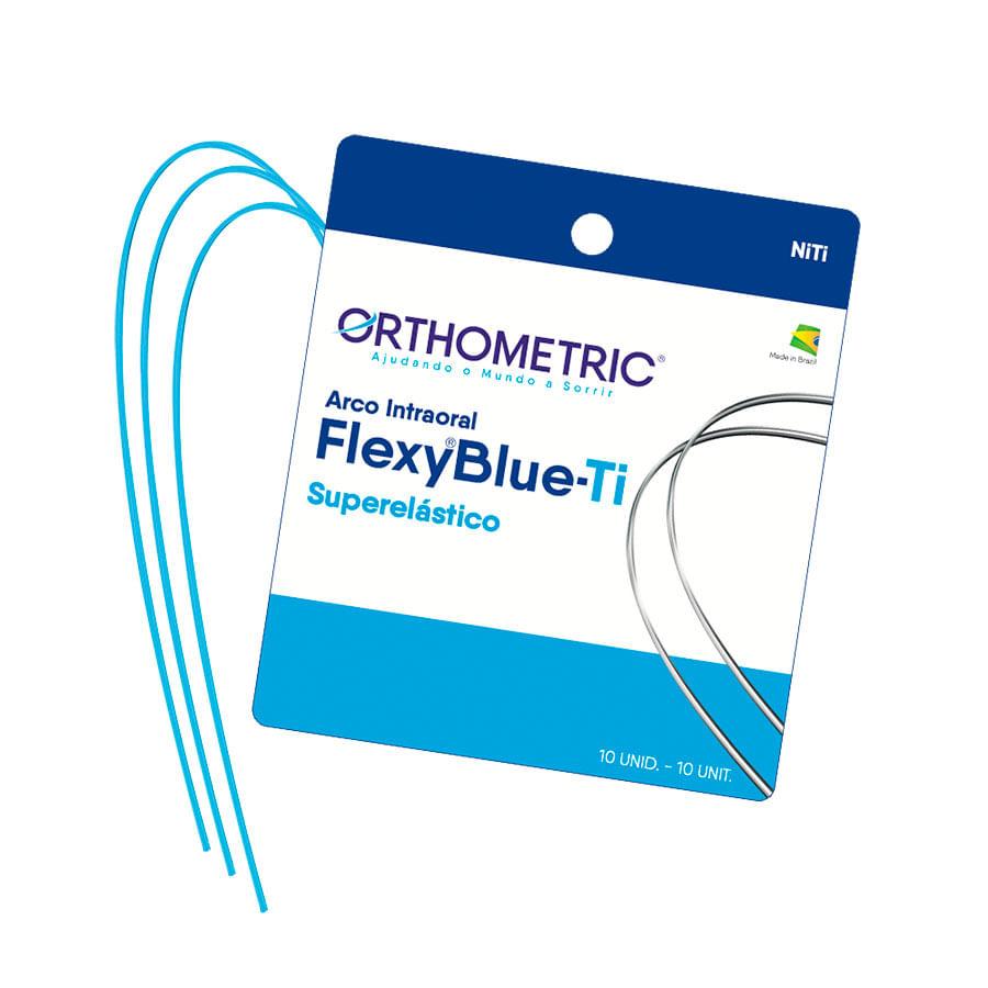 ARCO-NITINOL-SUPERELASTICO-FLEXY-BLUE-TI---SUPERIOR--ALX----NITI---RETANGULAR-.016X.022----ORTHOMETRIC