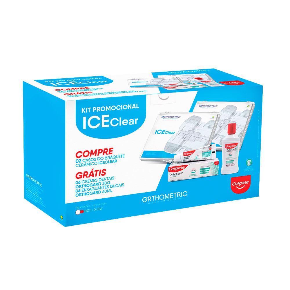 KIT-PROMOCIONAL-2-CASOS-CERAMICO-ICE-CLEAR---PRESCRICAO-ROTH-.022---COLGATE-ORTHOGARD---ORTHOMETRIC