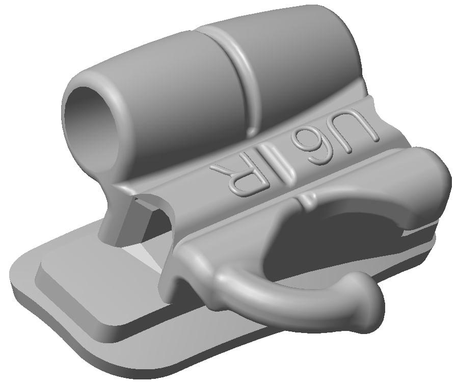 TUBO-PRESCRICAO-MBT-.022----DUPLO-CONVERSIVEL---SOLDAGEM---DENTE-16---COM-GANCHO-PARA-GENGIVAL---ABZIL