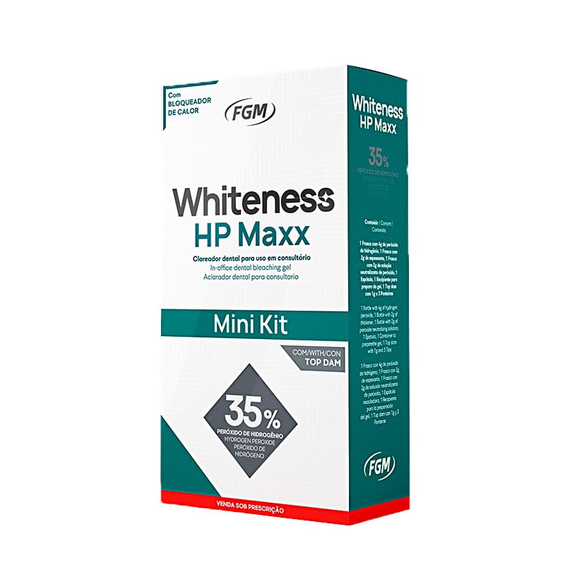 WHITENESS-HP-MAXX-35----MINI-KIT-CLAREADOR-DENTAL-PARA-1-PACIENTE---FGM