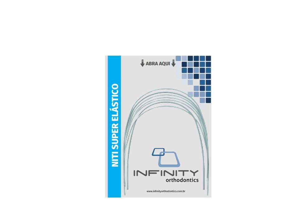 ARCO-INTRAORAL-NITINOL-SUPERELASTICO-INFERIOR---NITI---RETANGULAR-.021-X.025----PEQUENO---INFINITY
