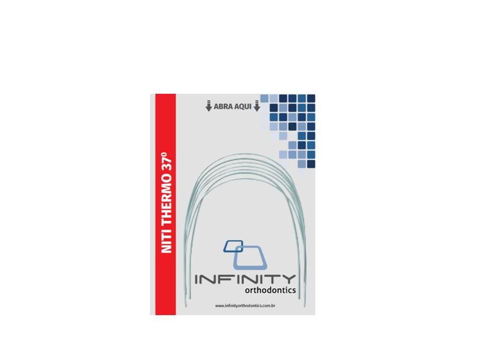 ARCO-INTRAORAL-NITINOL-SUPERELASTICO-TERMOATVADO---NITI---INFERIOR--RETANGULAR-.014-X.025----PEQUENO---INFINITY
