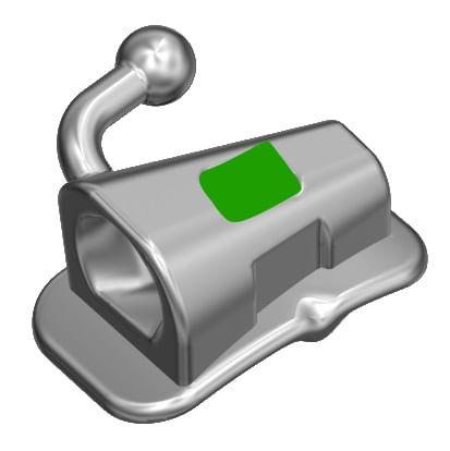 TUBO-ORTODONTICO-PARA-COLAGEM----PRESCRICAO-ROTH-.022--SIMPLES-AFUNILADO---DENTE-17---INFINITY