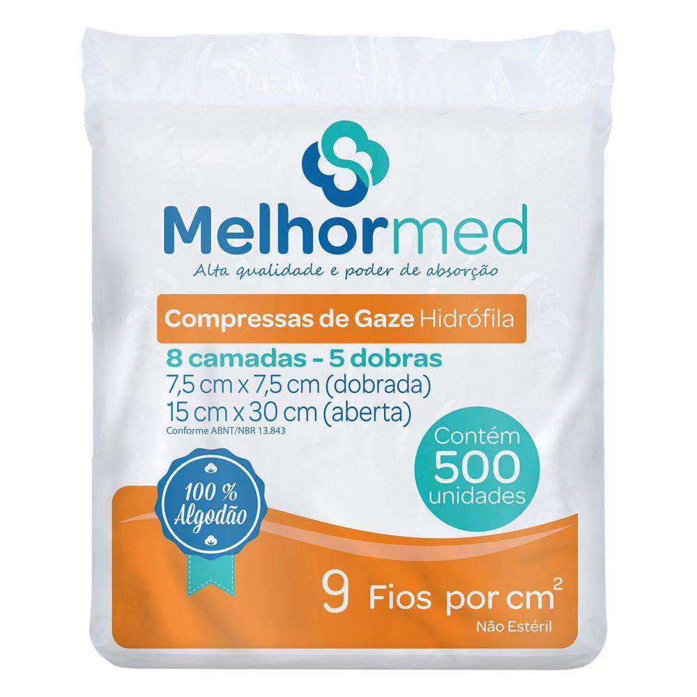 COMPRESSA-DE-GAZE-HIDROFILA---9-FIOS---7.5-X-7.5CM---MELHORMED