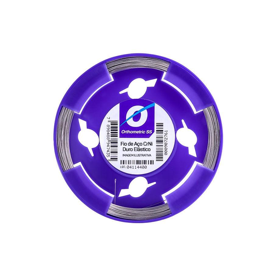 FIO-DE-ACO-EM-ROLO---DURO-ELASTICO---CRNI---REDONDO-Ø0.35MM--.014-----ORTHOMETRIC