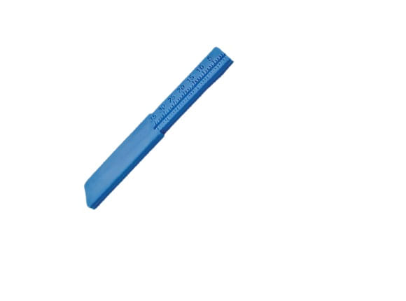 REGUA-ENDODONTICA-MILIMETRATA-PLASTICA---35MM---AZUL---MAQUIRA